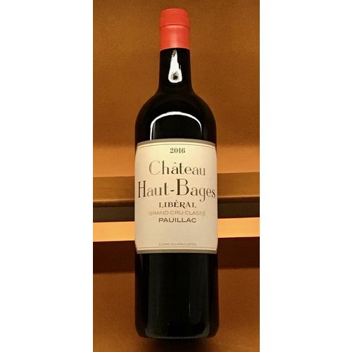 Wine CHATEAU HAUT-BAGES 'LIBERAL' 2016