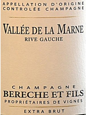 Sparkling BERECHE ET FILS EXTRA BRUT 'RIVE GAUCHE' CHAMPAGNE 2014