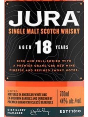 Spirits JURA SINGLE MALT SCOTCH WHISKY18YR