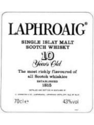 Spirits LAPHROAIG 10YR SCOTCH