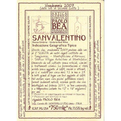 Wine PAOLO BEA MONTEFALCO ROSSO 'SAN VALENTINO' 2012