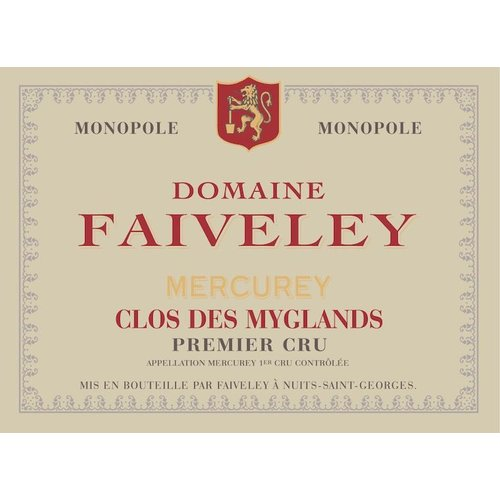 Wine FAIVELEY MERCUREY 'CLOS DES MYGLANDS' 1ER CRU 2017
