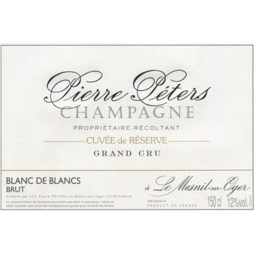 Sparkling PIERRE PETERS CHAMPAGNE CUVEE DE RESERVE BLANC DE BLANC 1.5L NV