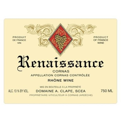 Wine AUGUSTE CLAPE CORNAS 'CUVEE RENAISSANCE' 2012