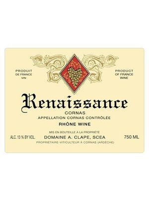 Wine AUGUSTE CLAPE CORNAS 'CUVEE RENAISSANCE' 2014