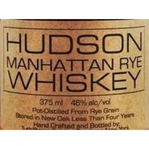 Spirits TUTHILLTOWN HUDSON MANHATTAN RYE 375ML