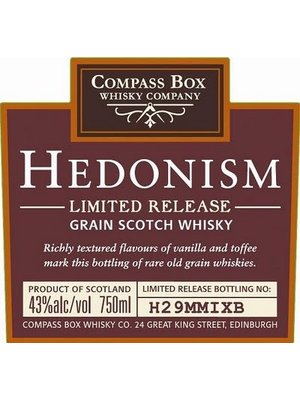 Spirits COMPASS BOX: HEDONISM SCOTCH