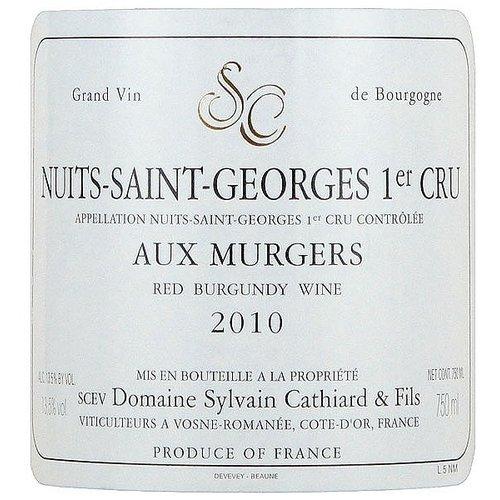 Wine SYLVAIN CATHIARD NUITS SAINT GEORGES 'AUX MURGERS' 1ER CRU 2010