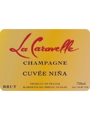 Sparkling LA CARAVELLE BRUT 'CUVEE NINA' CHAMPAGNE NV