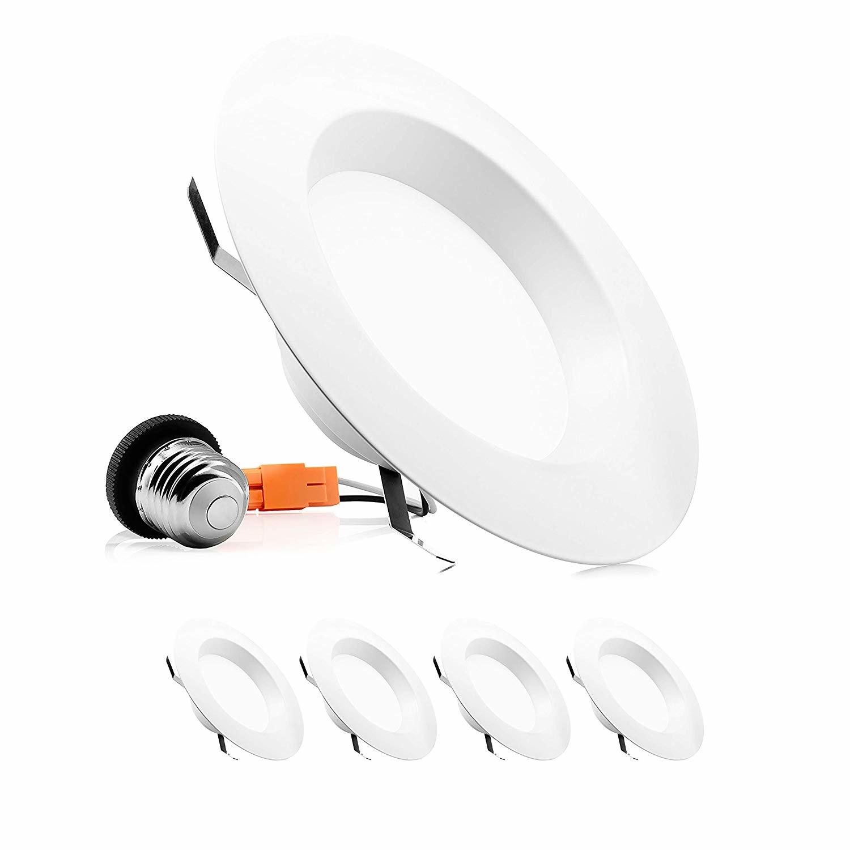 Parmida 1 Pack 5 6 Dimmable Led Disk Light Flush Mount Ceiling Fixture 15w Soft White 1050 Lumens 3000k