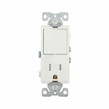 Cooper Eaton TR7730W 15-Amp 3-Wire Tamper Resistant Receptacle 120-Volt on