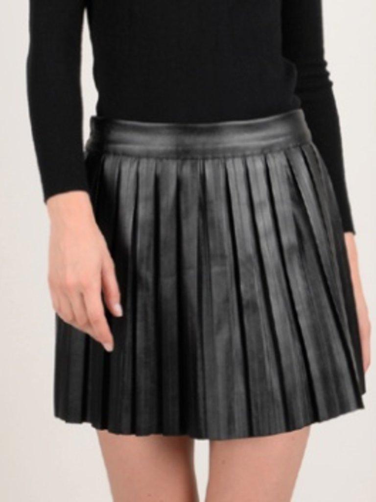 3f564c6b4b Molly Bracken pleated faux leather skirt - Boho Lifestyle