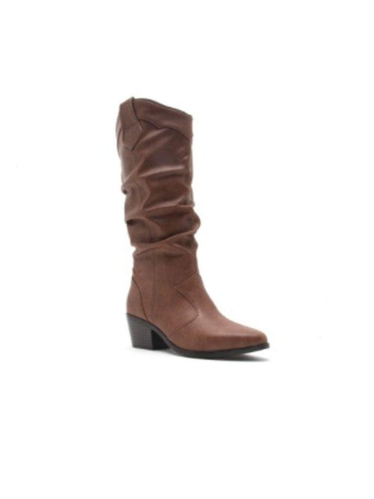 c52fcfe7213 Faux leather western boot - Boho Lifestyle