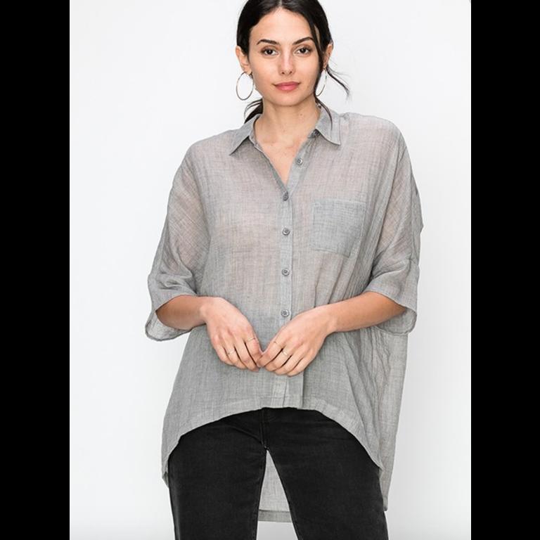 Gauzy button down blouse