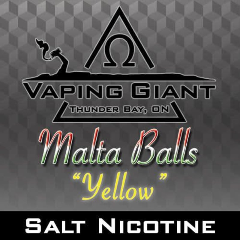 Vaping Giant Vaping Giant - Malta Balls: Yellow [Salt Nicotine] (30ml)
