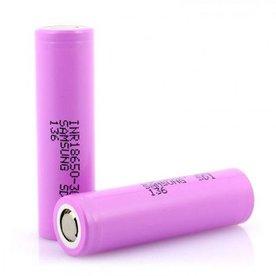 Samsung - INR18650-30Q 15A 3000mAh Flat Top 18650 Battery