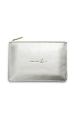Katie Loxton Sparkle and Shine Metallic Silver Perfect Pouch