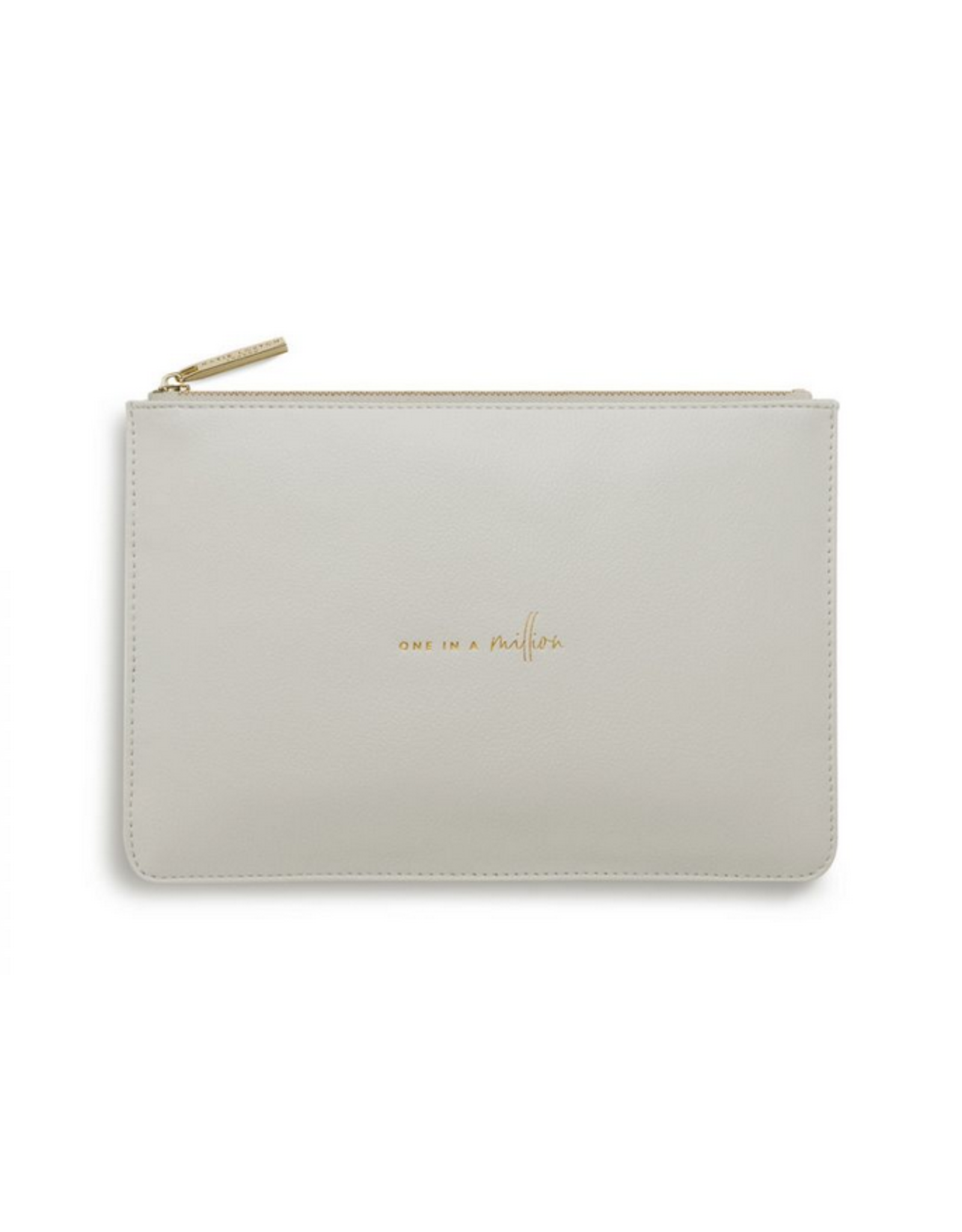 Katie Loxton One in a Million Perfect Pouch in Pale Gray