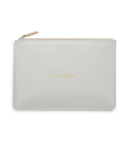 Katie Loxton Super Sister Pale Gray Perfect Pouch