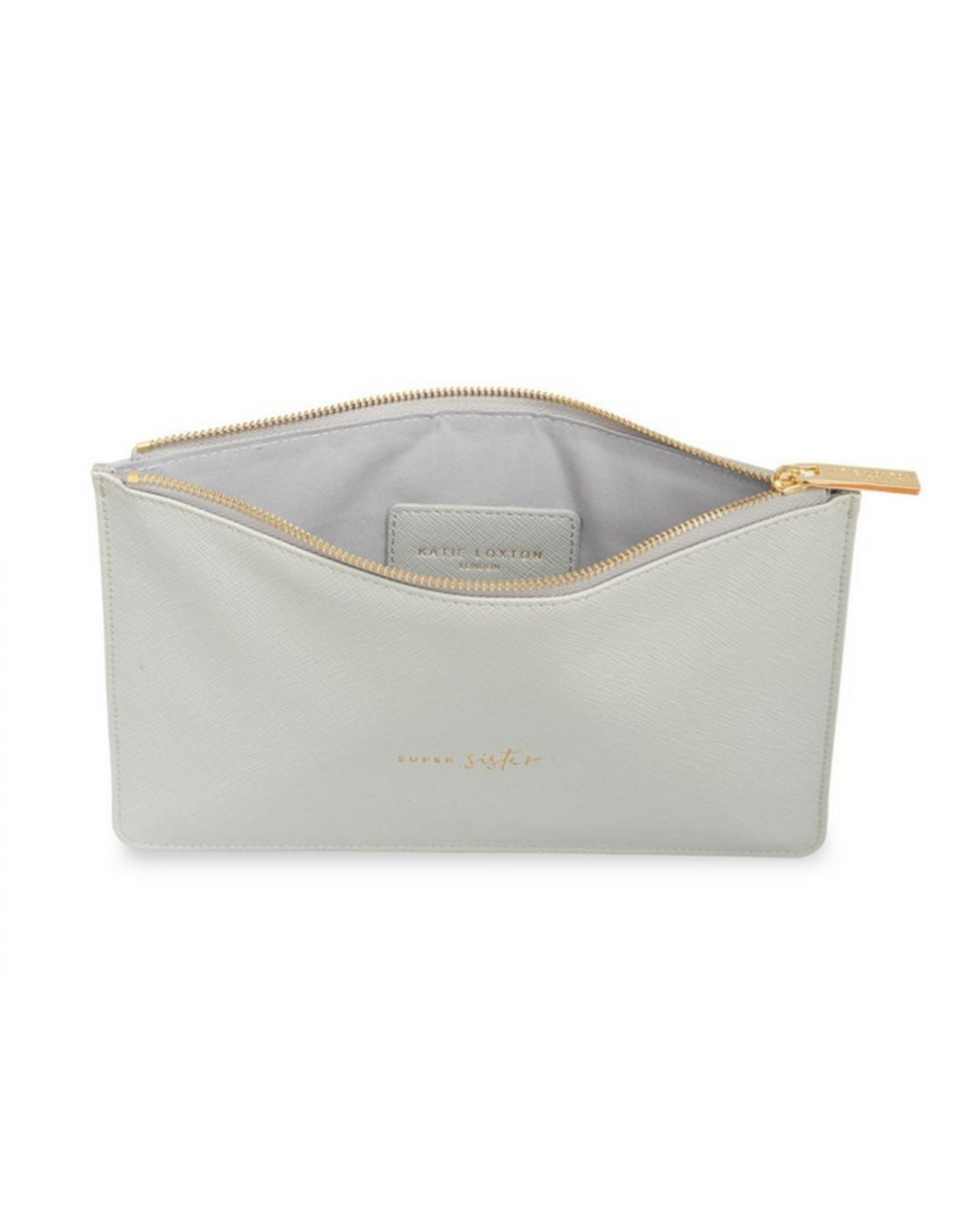 Katie Loxton Super Sister Perfect Pouch in Pale Gray