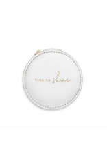 Katie Loxton Time to Shine Jewelry Holder in Metallic Silver