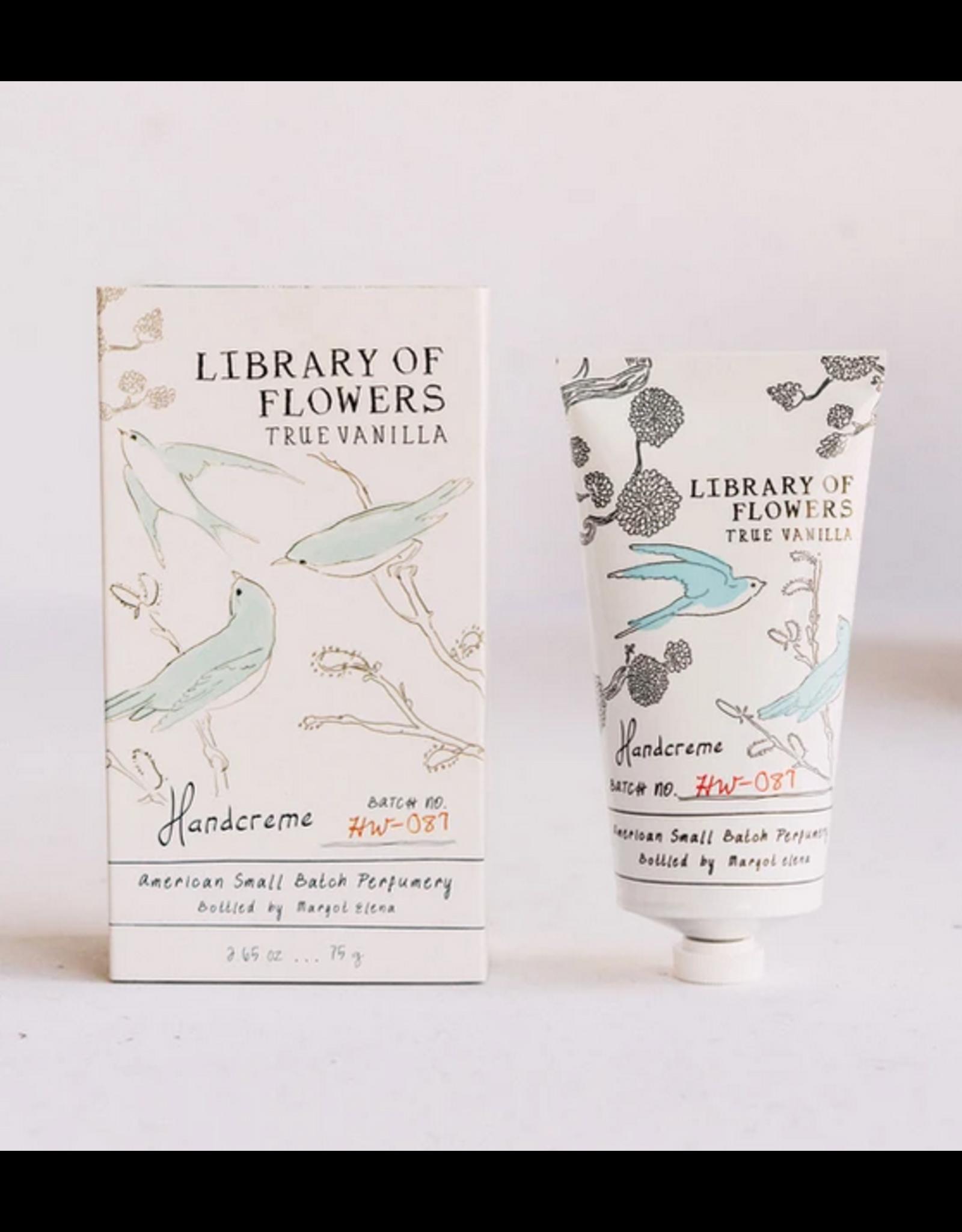 Library of Flowers True Vanilla Handcreme
