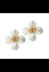 Hazen & Co Poppy Earring Gold Pyrite Hazen & Co
