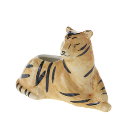 "Untamed Planter Tiger 7"" x 3"" x 4.5"""