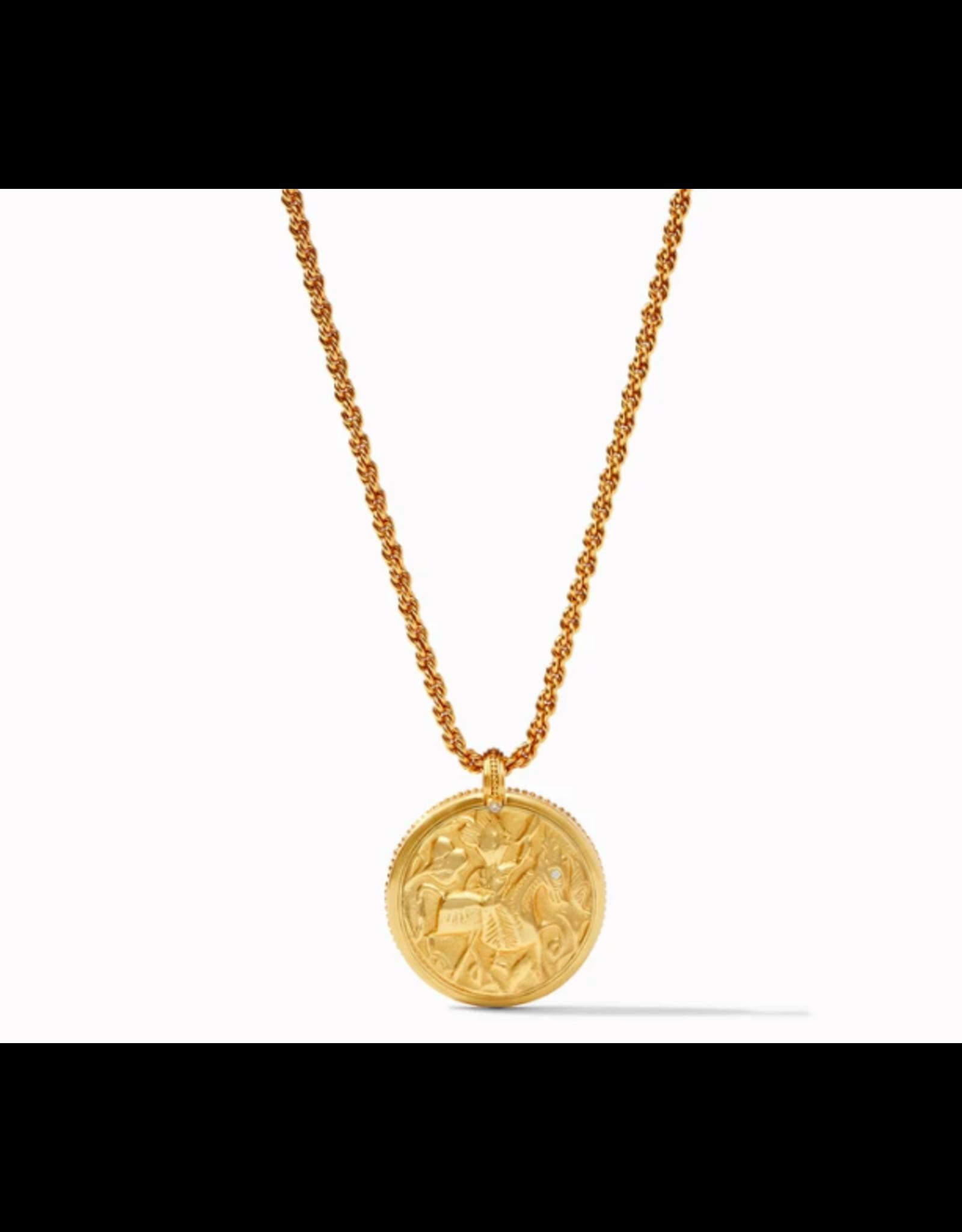 Julie Vos Coin Statement Necklace in Azure Blue by Julie Vos