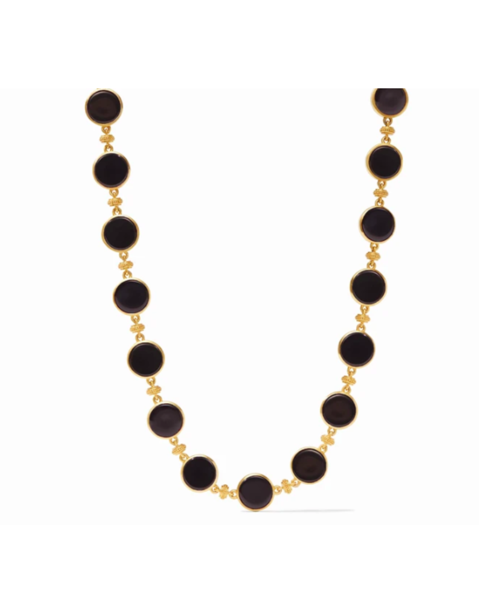 Julie Vos Coin Double Sided Necklace in Black Onyx by Julie Vos