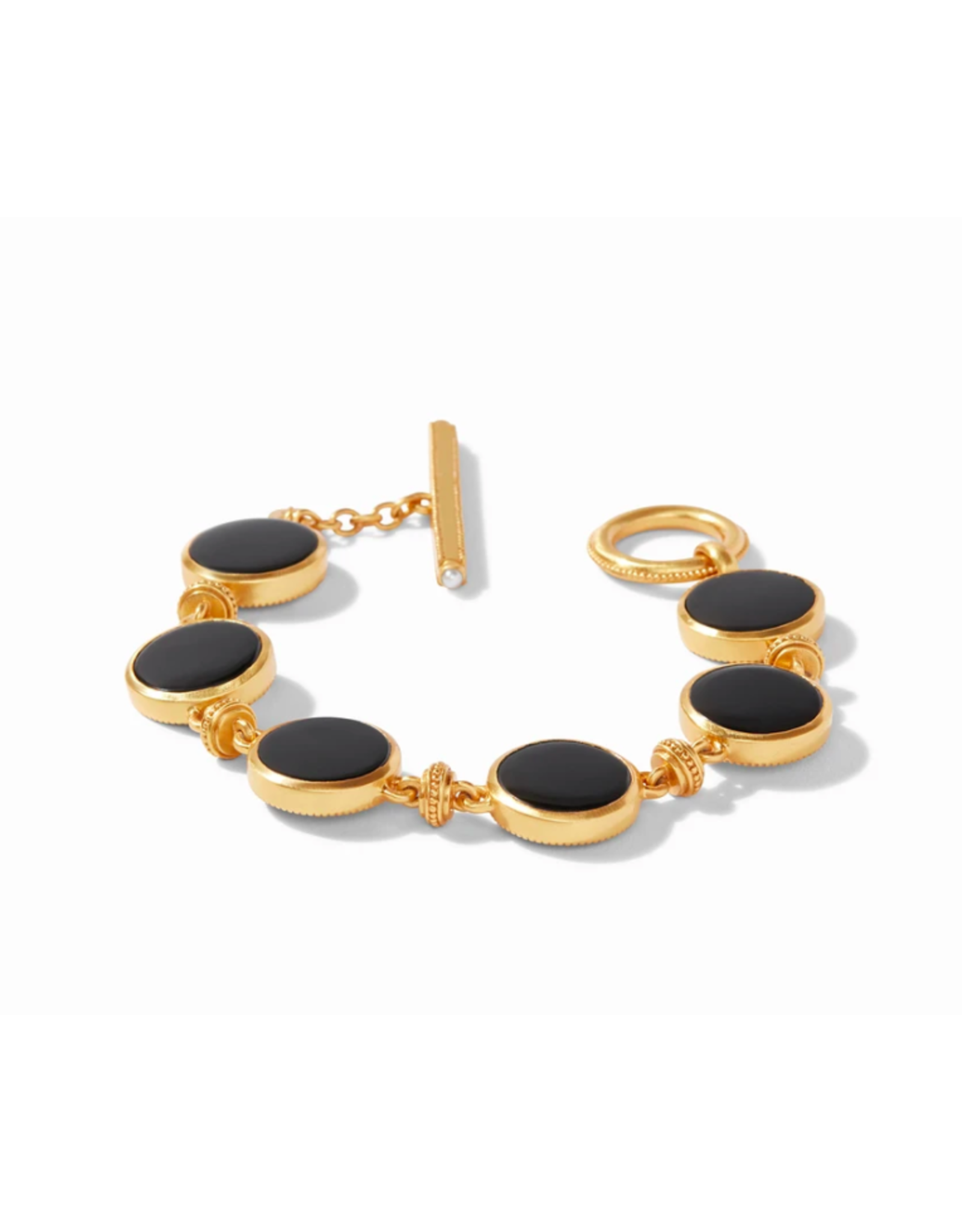 Julie Vos Coin Double Sided Bracelet in Black Onyx by Julie Vos