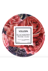 Voluspa Blackberry Rose Oud Tin Candle