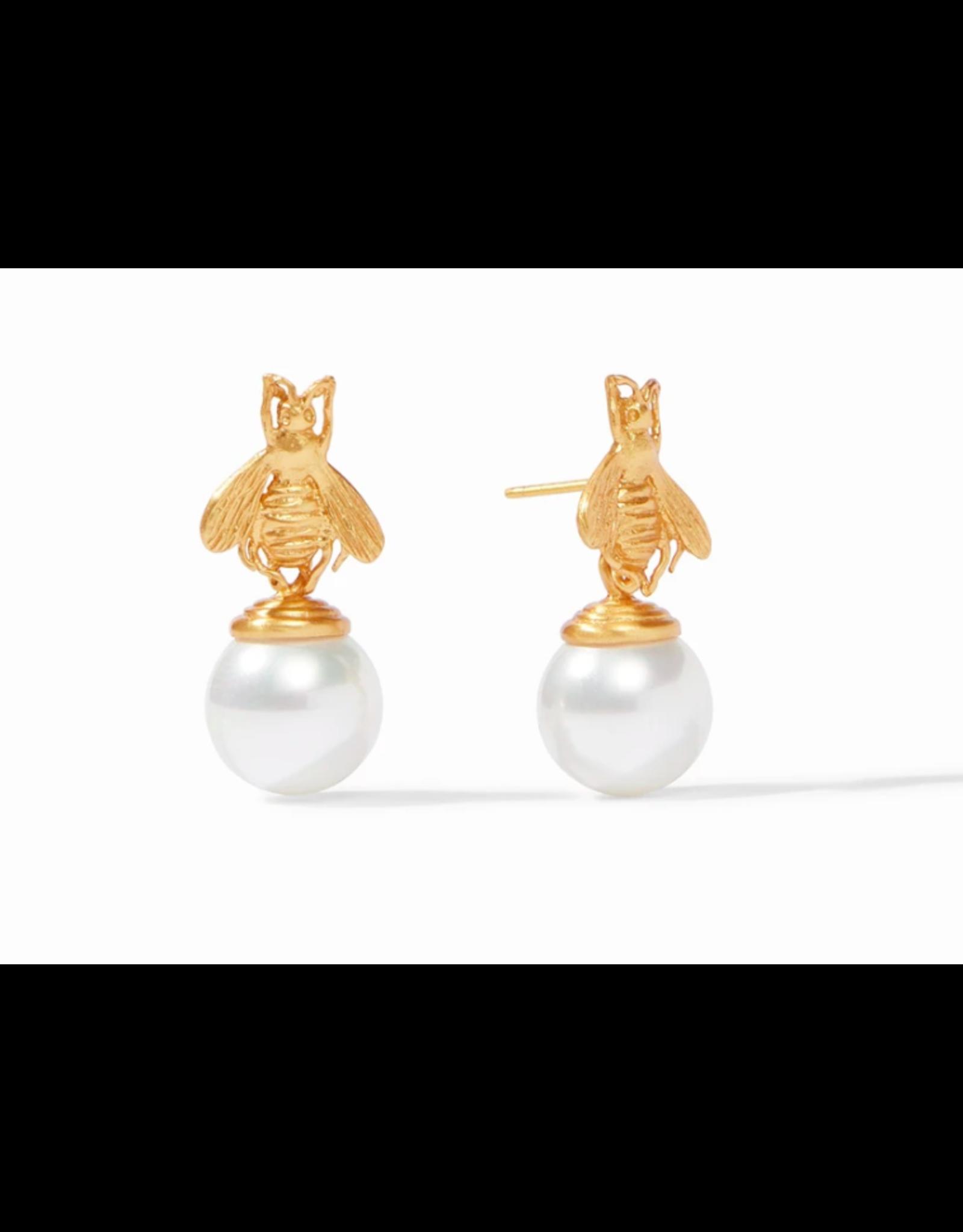Julie Vos Bee Pearl Drop Earrings by Julie Vos