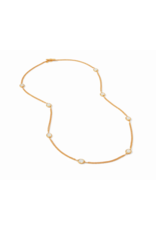 Julie Vos Calypso Station Necklace in Chalcedony Blue by Julie Vos