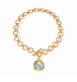 Julie Vos Barcelona Statement Necklace in Chalcedony Blue by Julie Vos