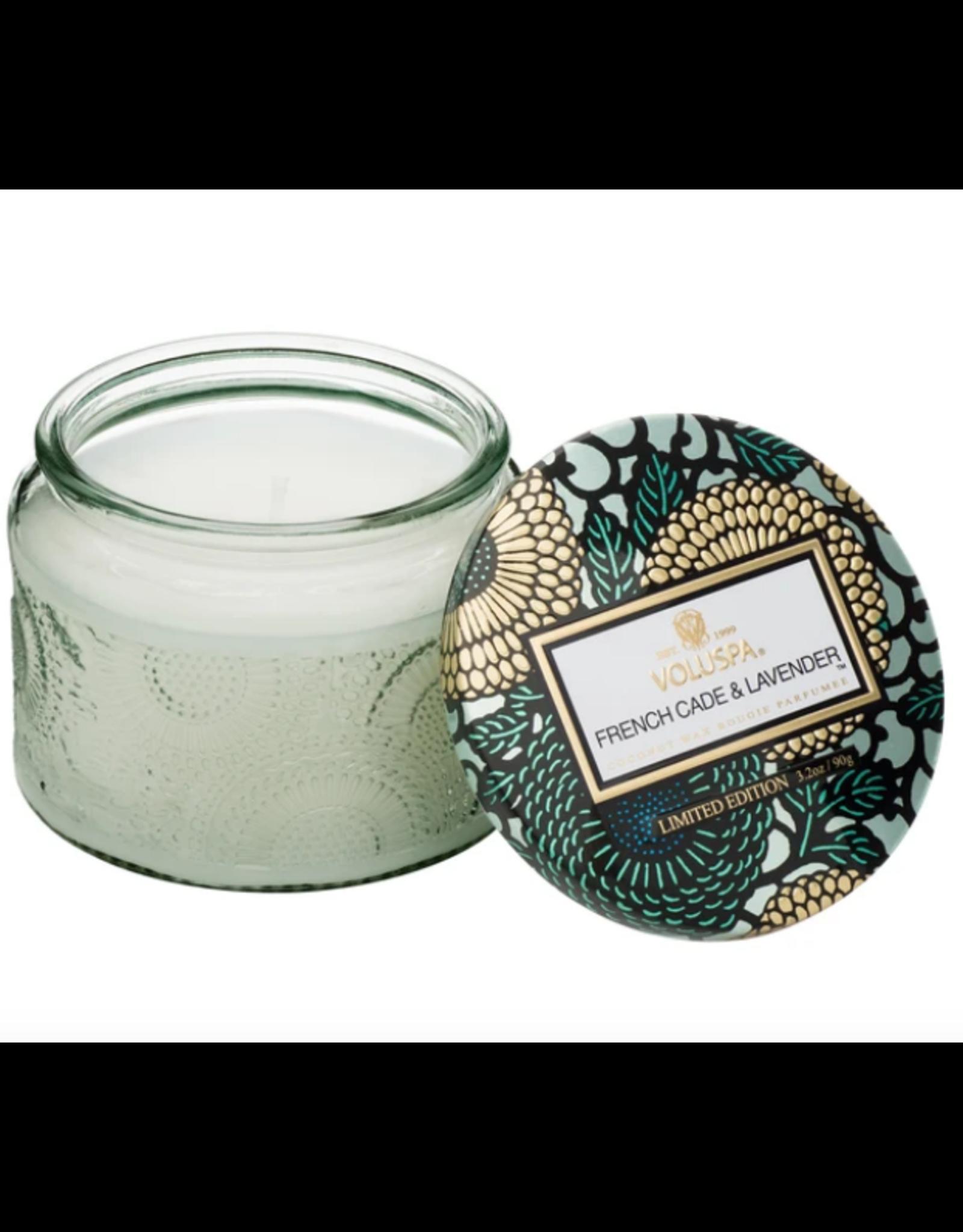 Voluspa French Cade Lavender Petite Glass Jar Candle