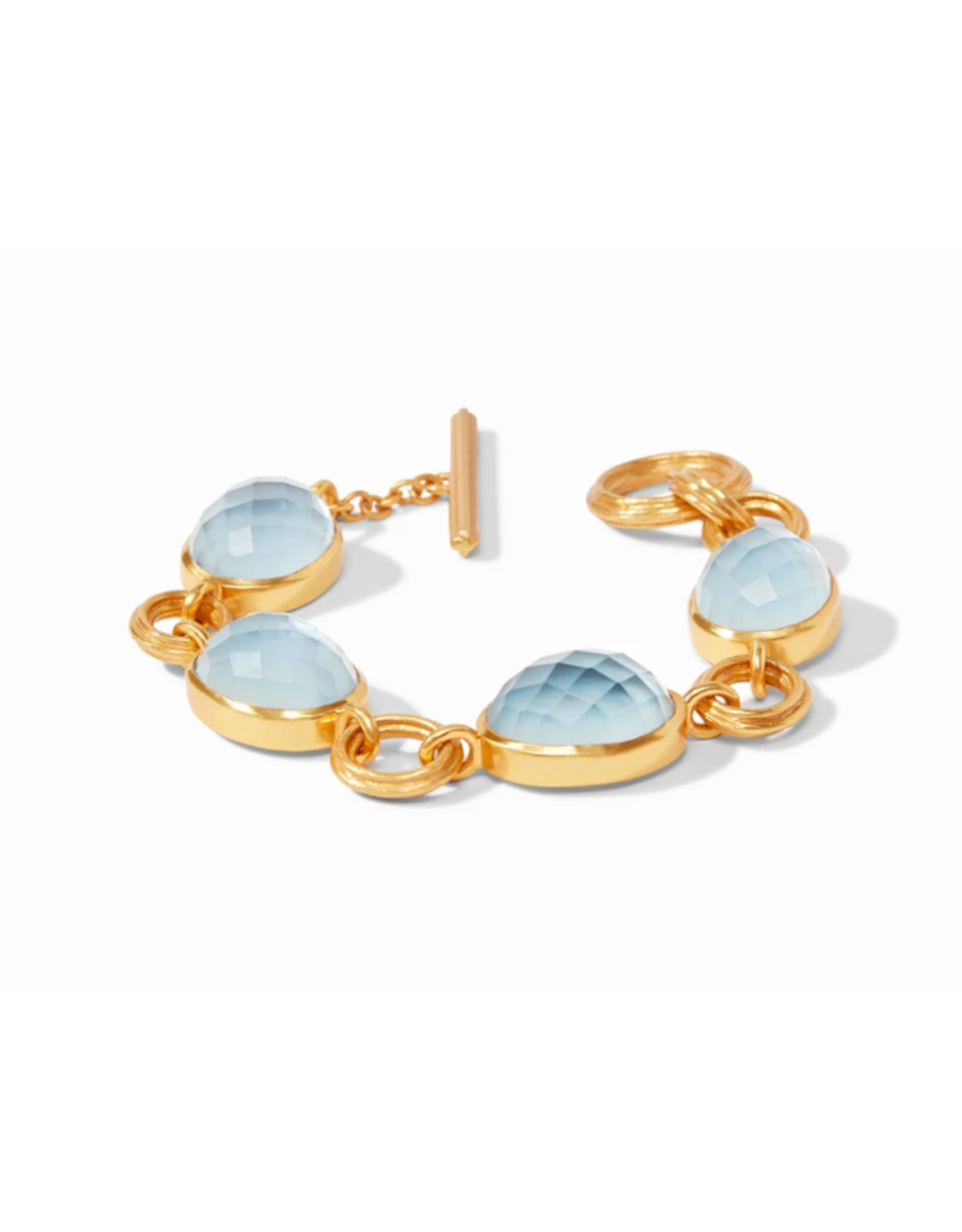 Julie Vos Barcelona Bracelet in Chalcedony Blue by Julie Vos