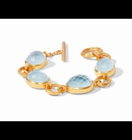 Julie Vos Barcelona Bracelet in Chalcedony Blue by Julie Vos