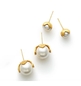 Julie Vos Penelope Pearl Stud in Assorted Sizes by Julie Vos