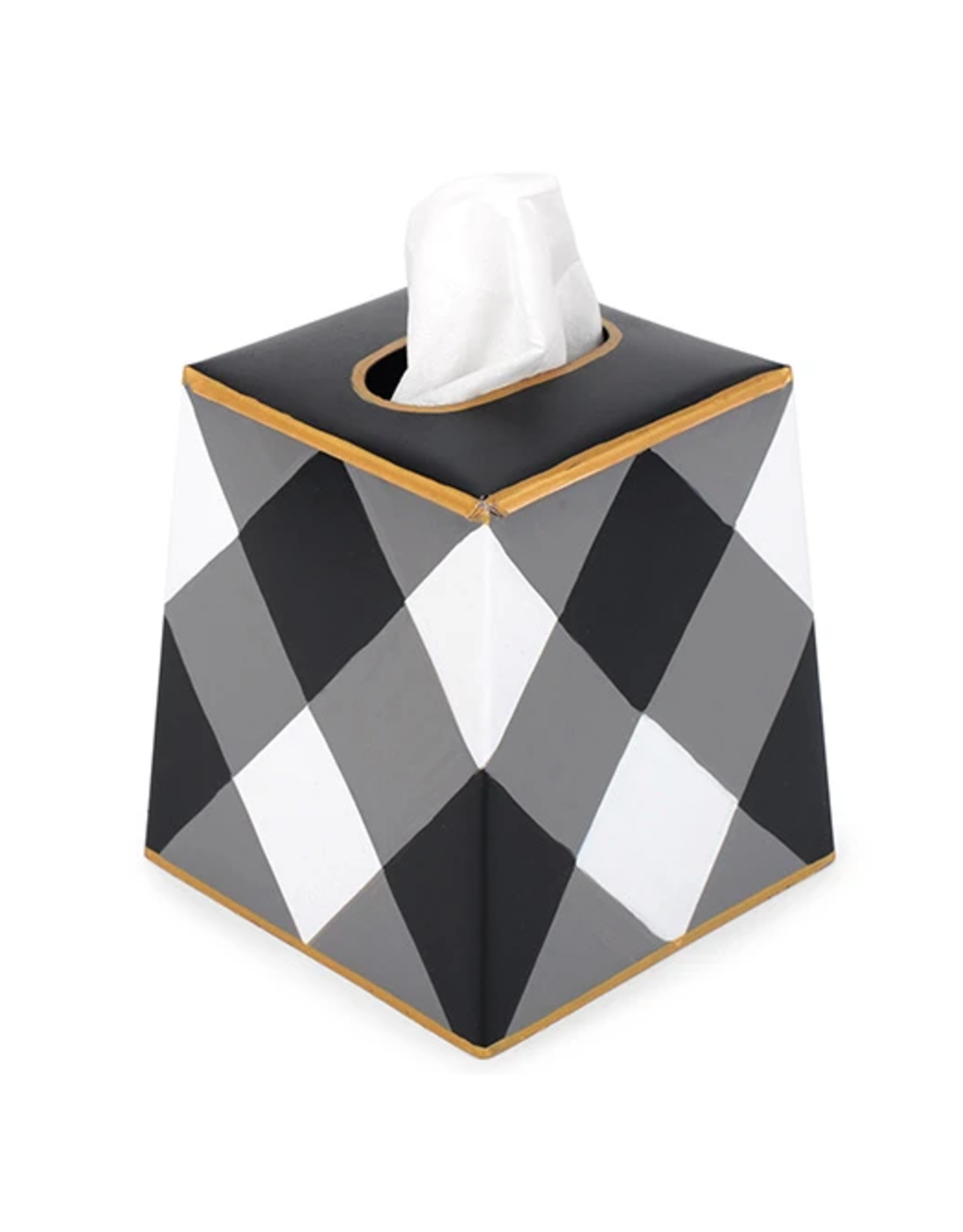 Buffalo Plaid Tissue Box Black