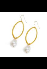 Hazen & Co Bitsy Earring in White Pearl by Hazen & Co