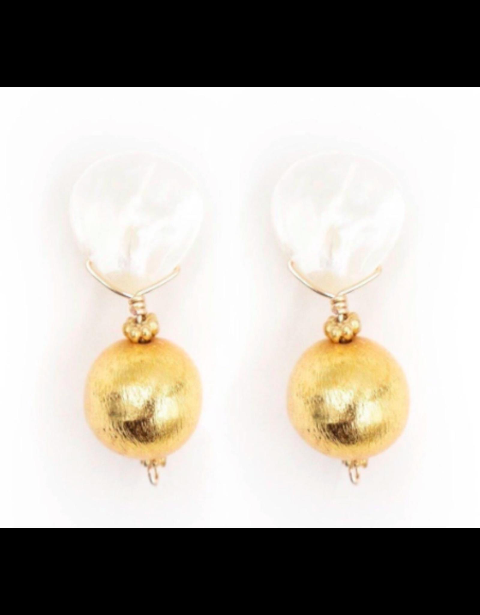 Hazen & Co Claire Earring in Gold by Hazen & Co