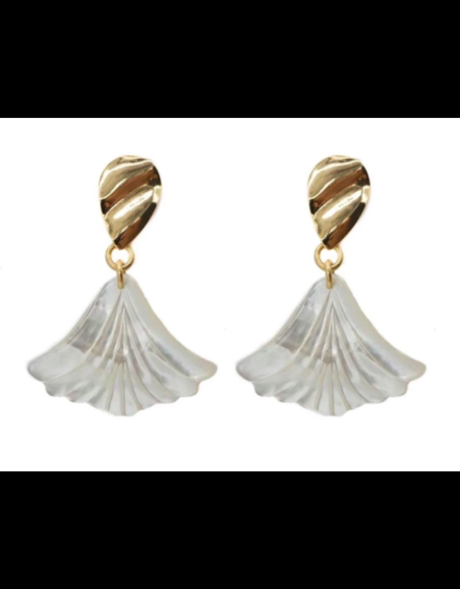 Hazen & Co Darby Earring in Petal by Hazen & Co