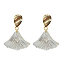 Hazen & Co Darby Earring in Petal by Hazen & Co