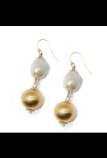 Hazen & Co Dee Earring in Double Baroque by Hazen & Co