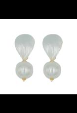 Hazen & Co Lively Earring in White Pearl by Hazen & Co