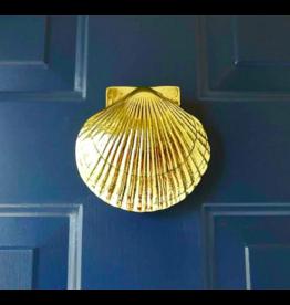 Sea Scallop Brass Door Knocker
