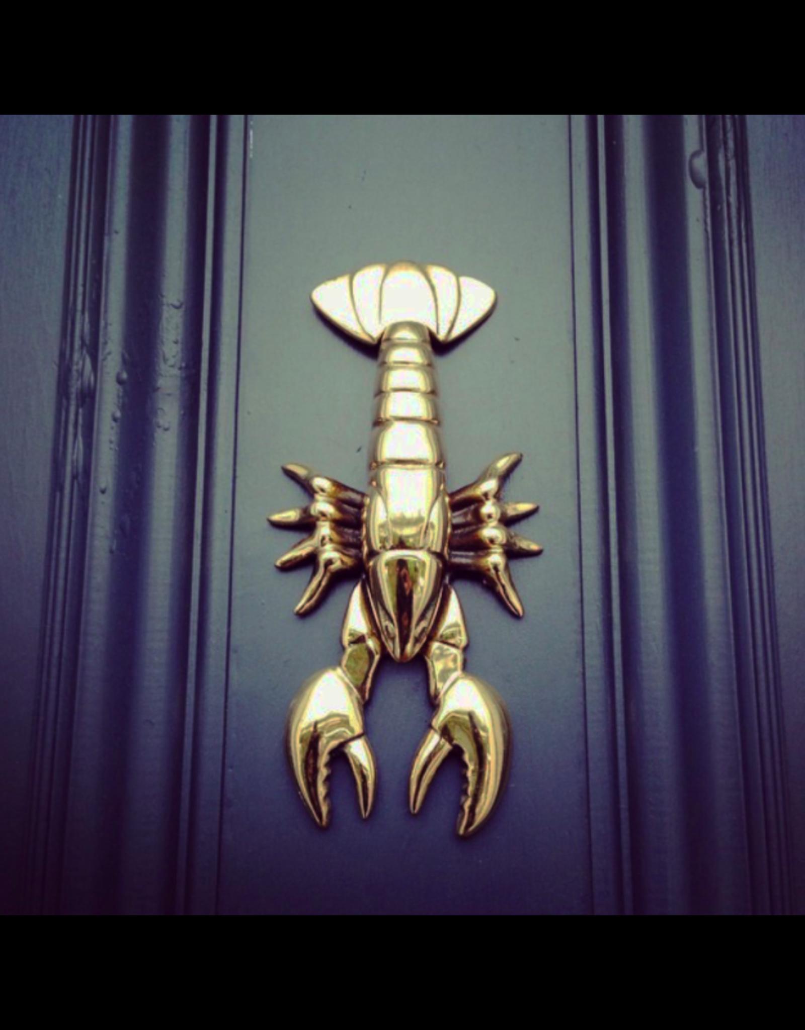 Lobster Brass Door Knocker