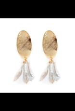 Hazen & Co Darby Earring in White Stick Pearl by Hazen & Co