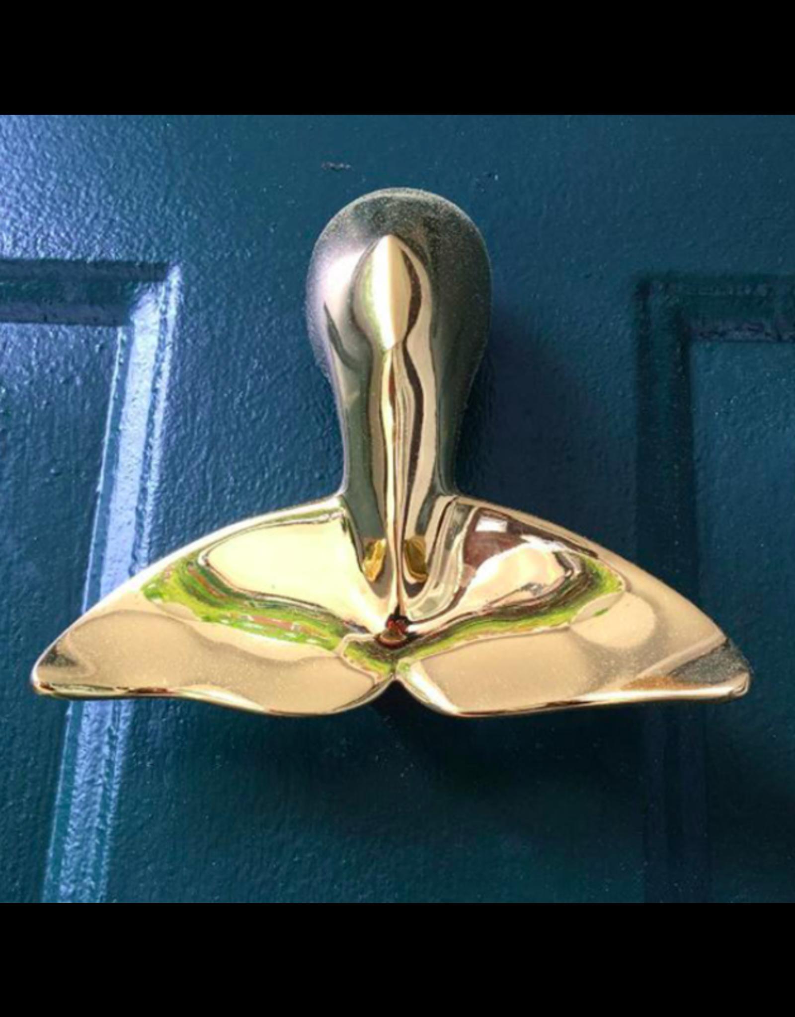 Whale Tale Brass Door Knocker